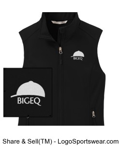 Official BIGEQ Ladies Black Soft Shell Vest Design Zoom
