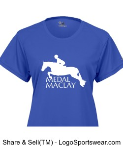 MEDALMACLAY Ladies Blue B-Dry Core Tee Design Zoom