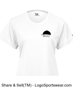 Official BIGEQ Ladies B Dry Core Tee in White Design Zoom