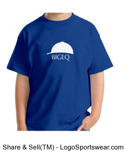Official BIGEQ Youth Gildan T-Shirt in Royal Blue Design Zoom