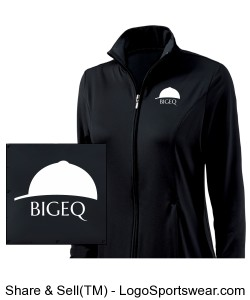 Official BIGEQ Youth Girls Fitness Jacket by Charles River Apparel Design Zoom