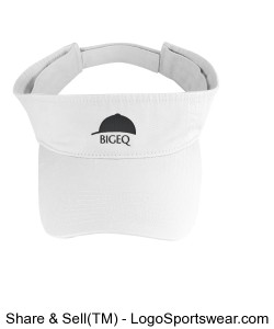 Official BIGEQ White Visor Design Zoom