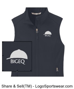 Official BIGEQ Ladies Gray Soft Shell Vest Design Zoom