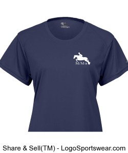 "Limited Edition MedalMaclay ""M/M 18"" Ladies B-Dry Core Tee in Navy Design Zoom"